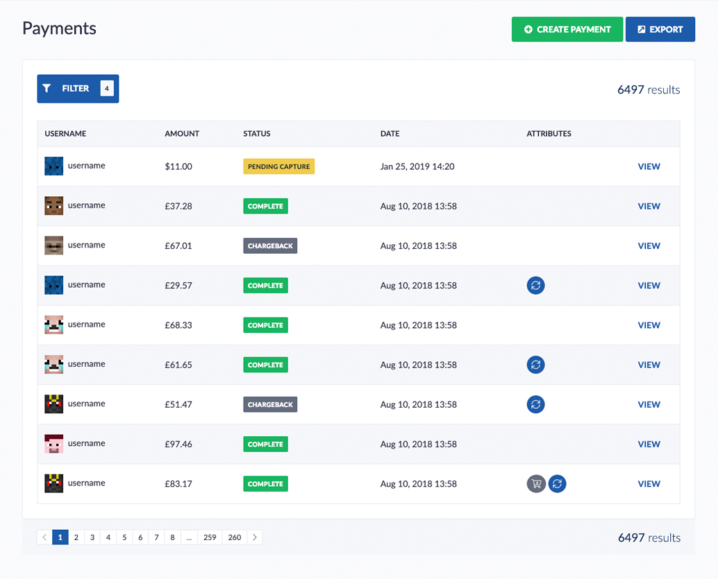 View payments easily
